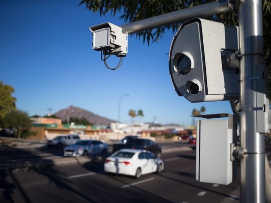 A study commissioned by Scottsdale found collisions red-light running and speeding through intersections decreased about 33 percent after photo-enforcement cameras were introduced.
