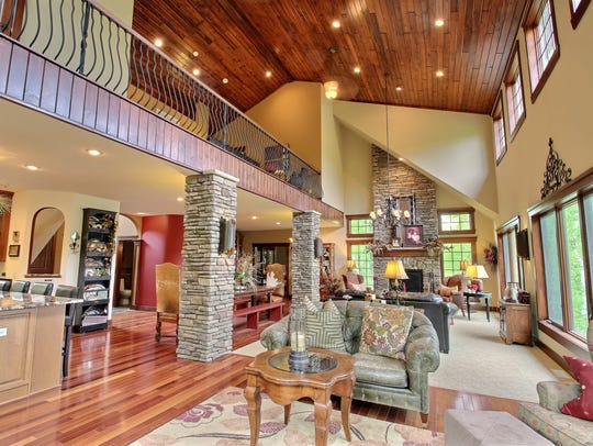 The main level's open floor plan is perfect for entertaining.