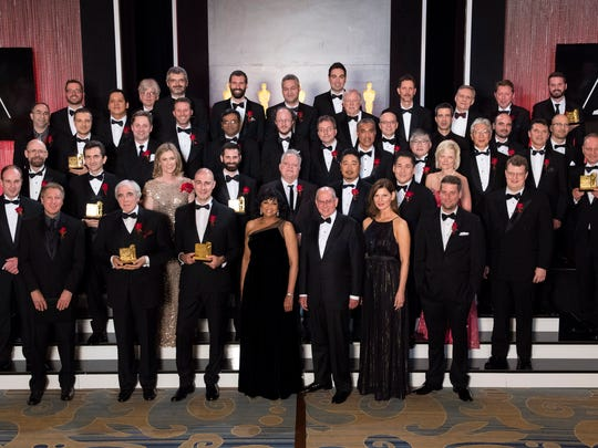 The complete group of winners at the Academy of Motion