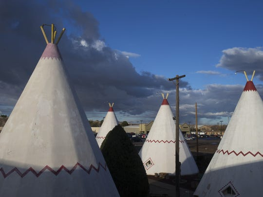 The tepees at the Wigwam Motel in Holbrook are a nostalgic
