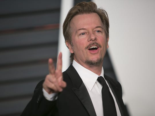 David Spade arrives to the Vanity Fair Oscar Party in 2015 in Beverly Hills, California.