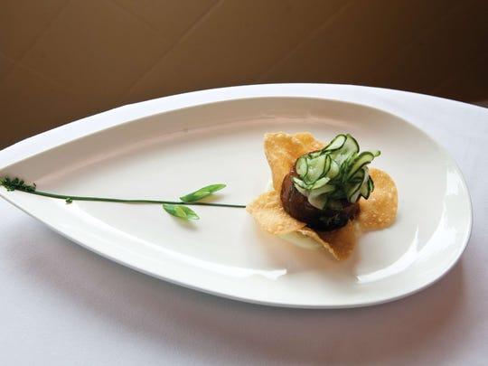 Sashimi tuna flower.