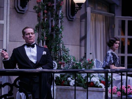 "David Macdonald plays Elyot and his real-life wife, Monette Magrath, plays Elyot's first wife, Amanda, in ""Private Lives"" at Geva."
