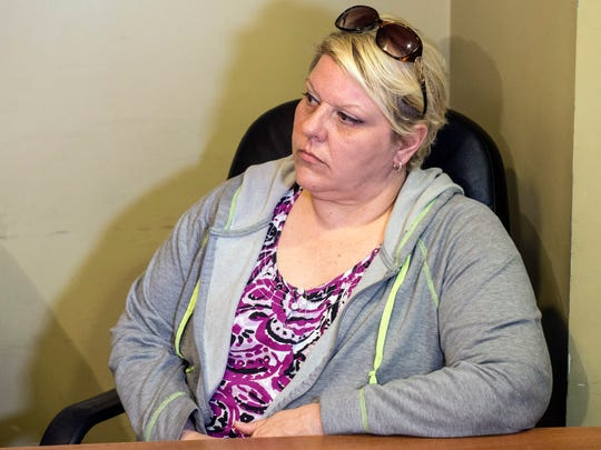 Rae Saunders, the mother of recent homicide victim Delivia Carron, sits in on a Sunday press conference addressing issues surrounding her daughter's murder. April 16, 2017