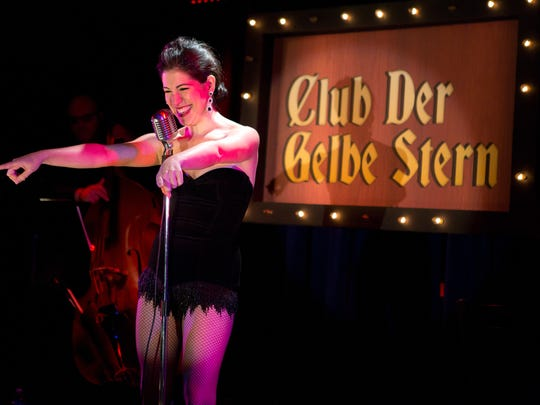 "Actress/author Alexis Fishman will bring her one-woman show, ""Club Gelbe Stern"" set in Berlin in 1933 to the Shimon and Sara Birnbaum Jewish Community Center for one night only, at 7:30 p.m. on April 22."