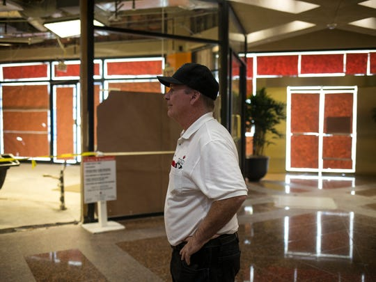Keith Evans of Wespac Construction walks through the lobby area of Renaissance Square on April 27, 2017, in Phoenix. Renaissance Square is undergoing rennovations to attract a younger, tech-oriented, workforce to its building. Phoenix has seen an increase in tech companies in recent years.