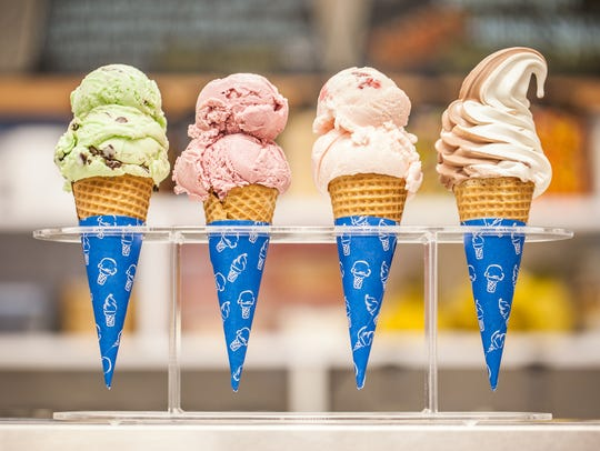 A selection of cones from Barry's Do Me a Flavor in