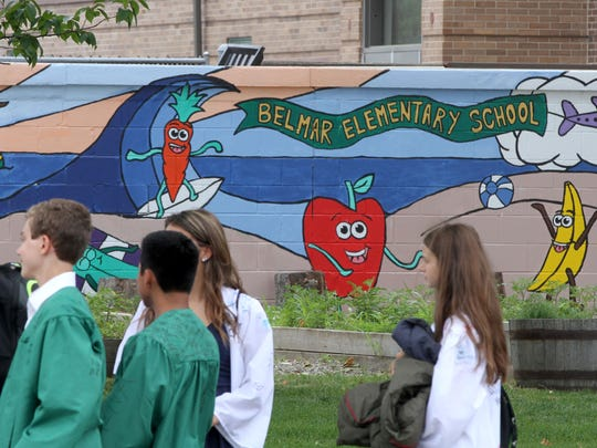 Belmar Elementary School students are shown after their graduation Friday, June 16, 2017.  Two of their classmates, a 13-year-old girl died and the 12-year-old girl who is on life support after the pair were found facedown in the ocean between the 9th and 11th Avenue beaches in the ocean.