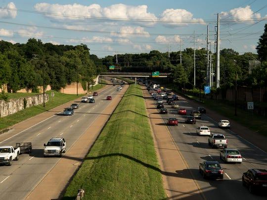 Traffic moves along  I-440 in Nashville, Tenn., Tuesday,