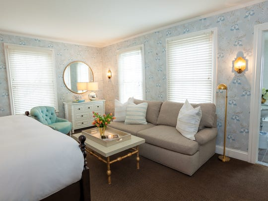 One of the bedrooms inside the Virginia Hotel.