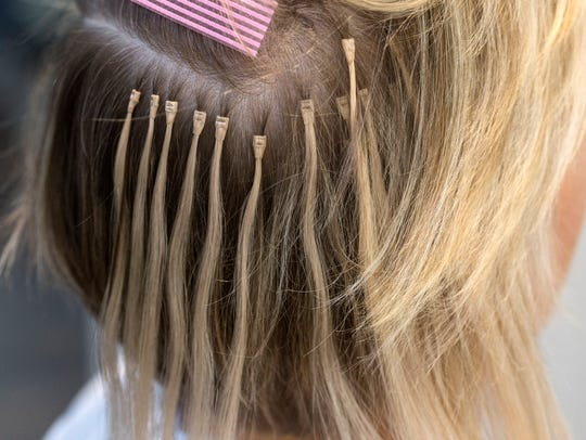 Hair extensions covering the back and side of the head