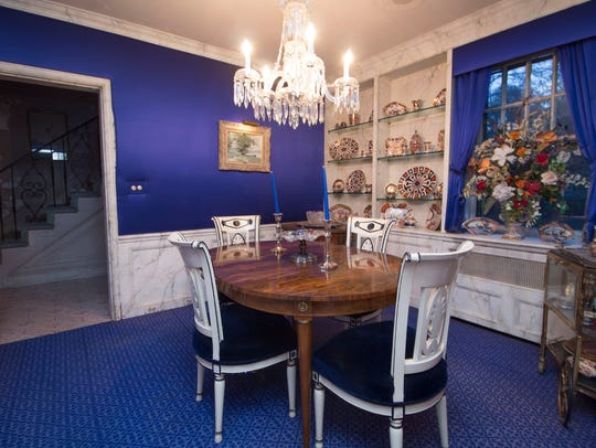Rooms with strong hues, like this New Rochelle home