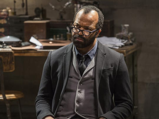"Jeffrey Wright in a scene from HBO's ""Westworld.""  Wright was nominated for an Emmy Award for outstanding supporting actor in a drama series on Thursday, July 13, 2017. The Emmy Awards ceremony, airing Sept. 17 on CBS, will be hosted by Stephen Colbert. (John P. Johnson/HBO via AP)"