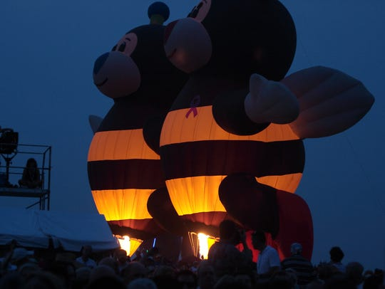 The Glow Bees balloon.