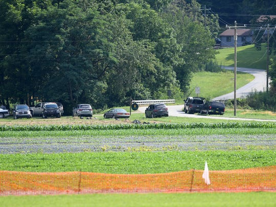 A command center was set up Tuesday afternoon on Whitaker Lane just off of N. Mills River Road in Mills River in the search for Phillip Michael Stroupe II after he was spotted by a motorist in the area Monday night.