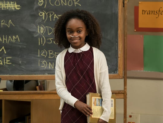Lidya Jewett on the set of the pilot episode of NBC's