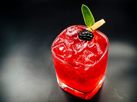 The Bramble signature cocktail at The Bevy features