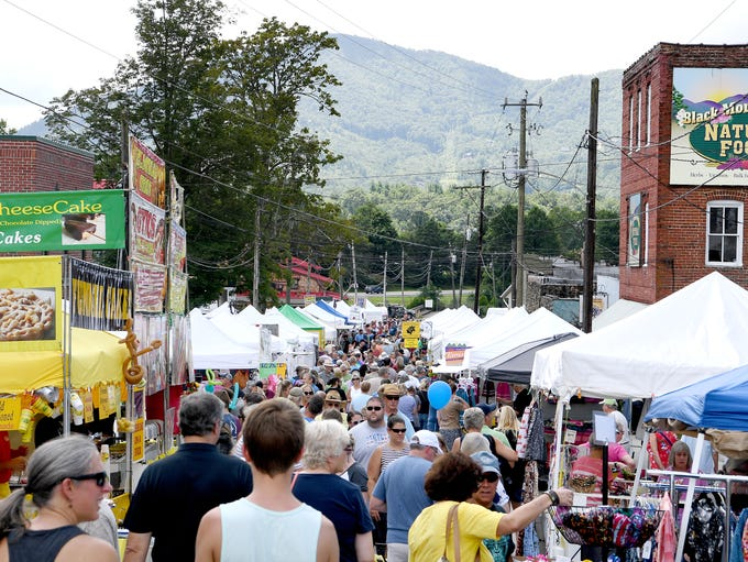 The streets of downtown Black Mountain were lined with