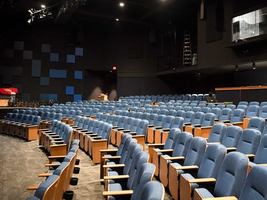 Phase 1 of renovations being done to the Asheville Community Theatre included new seats and sound paneling in the auditorium.