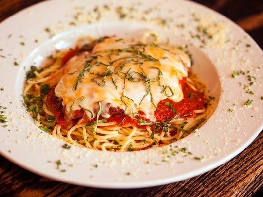 Chicken Parmesan is a pasta dish for lunch or dinner