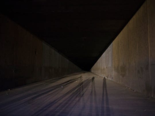 The flood-control tunnel, pictured on Aug. 15, 2017,