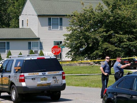 Brick Township police officers block Rainbow Drive