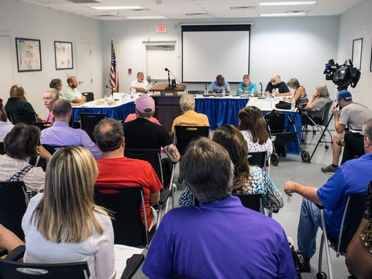 Members of the New Albany Housing Authority met in
