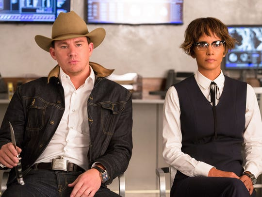 Agents Tequila (Channing Tatum) and Ginger Ale (Halle