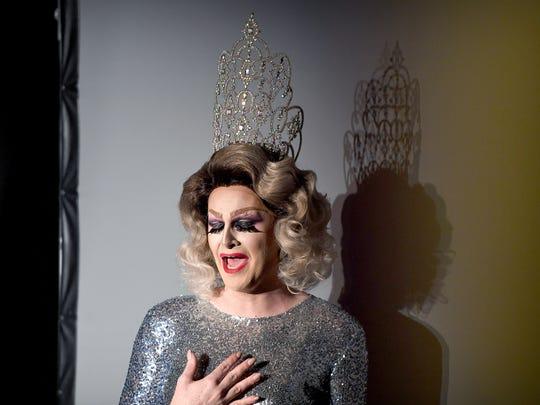 The 2016 Miss Blue Ridge Pride, Ginger Von Snap,  performs
