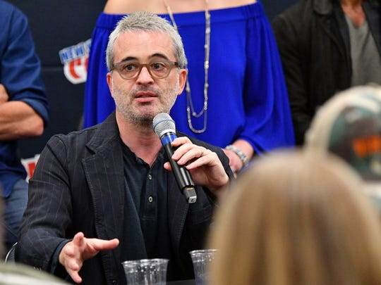 "Alex Kurtzman speaks onstage during the ""Star Trek: Discovery"" press conference at Madison Square Garden during New York Comic Con 2017."