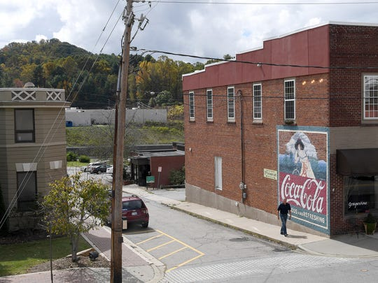 The town of Burnsville features several pieces of public art for visitors to enjoy including murals on the sides of several downtown buildings.