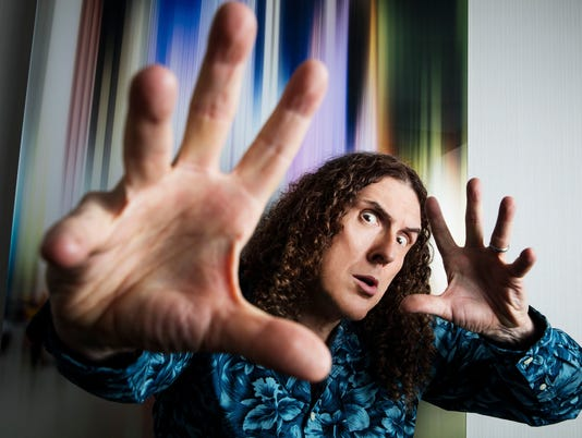Weird Al Yankovic in New York.