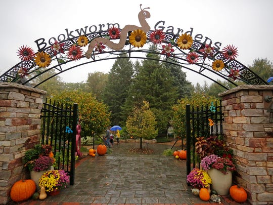 The entrance of Bookworm Gardens during the Children's Book Festival, Saturday, October 14, 2017, in Sheboygan, Wis.