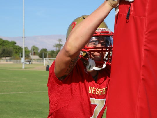 Austin Holt is photographed at College of the Desert,