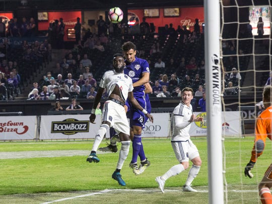 Louisville City FC battled against Bethlehem Steel FC on Friday, Oct. 20, 2017, at Slugger Field.