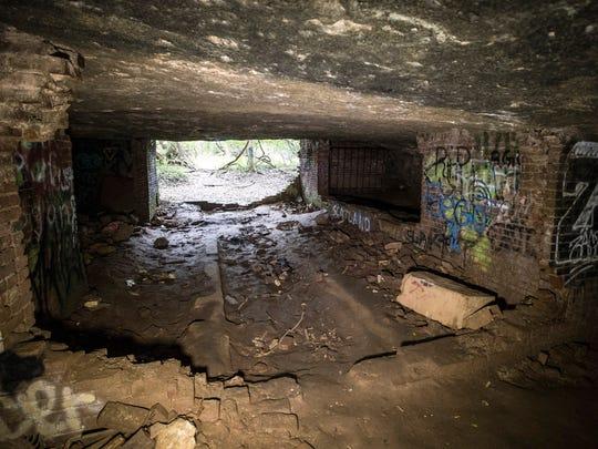 Sauerkraut Cave in Tom Sawyer Park lies not far from the soccer fields and archery range. 10/12/17