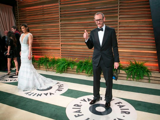 Terry Richardson arriving at the 2014 Vanity Fair Oscar
