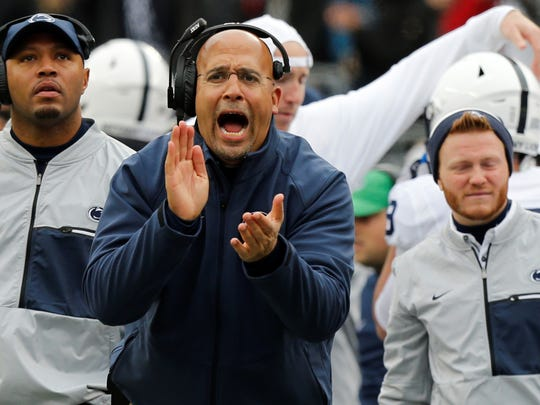 Penn State head coach James Franklin is already hard at work on his 2020 recruiting class.