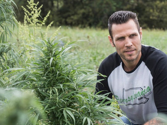 Former NHL player Riley Cote (Philadelphia Flyers 2002-2010) visits the Ananda Hemp farm in eastern Kentucky as an advocate for medicinal hemp oil. 10/09/17