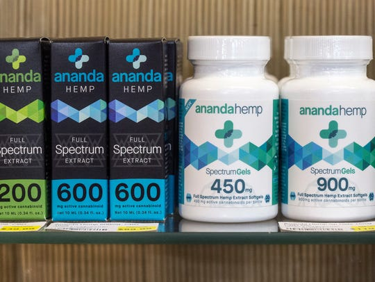 The Ananda Hemp farm in Cynthiana, Kentucky, sells CBD oil, extracted from the flower of the hemp plant, available at Rainbow Blossom natural food markets in Kentuckiana. Oct. 10, 2017