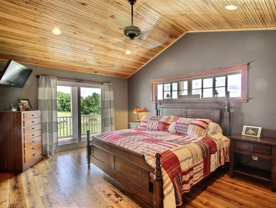The master suite at 520 Hoyt Ave. NW, Annandale, includes