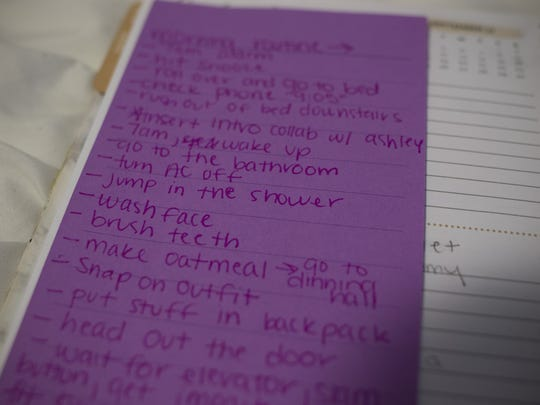 A detailed list notes the shots Sidney has planned