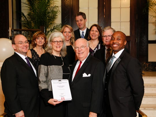 Members of Frazier Associates during the AIA Awards Ceremony at the Hotel John Marshall in Richmond.