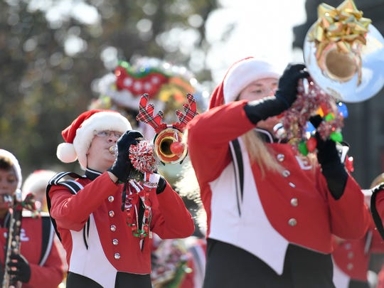 Thousands came out for the 71st annual Holiday Parade in downtown Asheville on Saturday, Nov. 18, 2017.