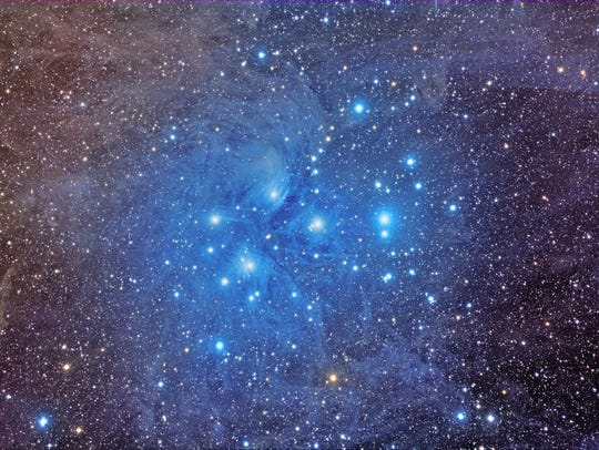 The Seven Sisters (Pleiades) star cluster
