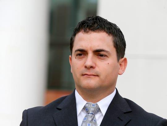 Justin Cherry, a suspended Tuckerton police corporal