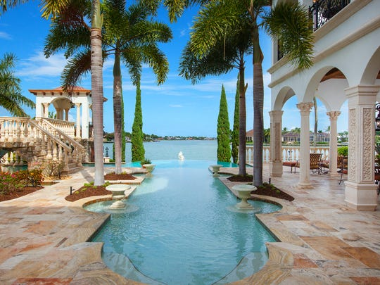 A waterfront view from Villa Venezia, which recently sold for $8.5 million, on Marco Island.