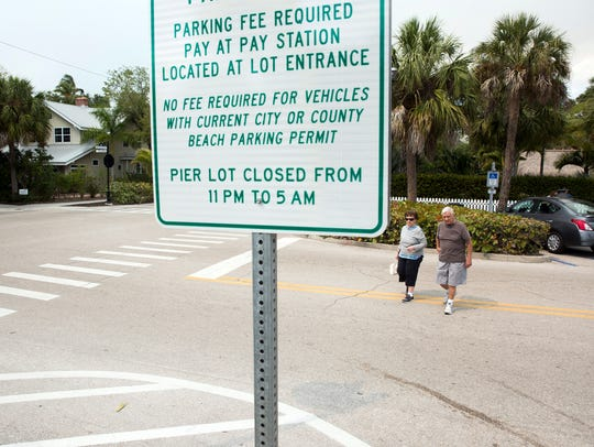 Residents and tourists alike use the parking lots near