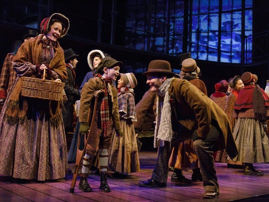 The Cast of Geva Theatre Center's 'A Christmas Carol.'