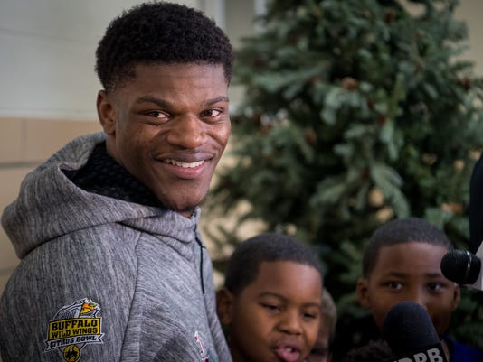Lamar Jackson speaks about the Heismam at West End School